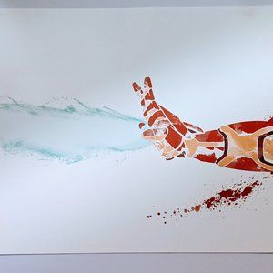 Other - RARE MARVEL IRON MAN HAND BLAST WALL ART